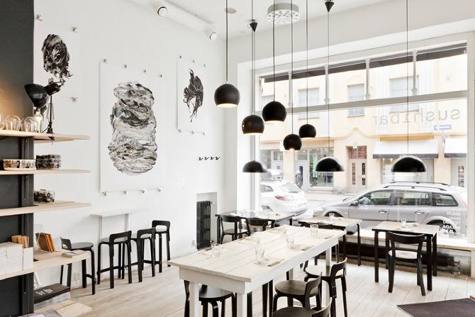 Sushi Restaurant Design sushibar - http://www.eliisakorpijarvi/
